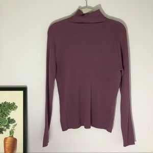 BR extra fine Merino wool muted purple turtleneck
